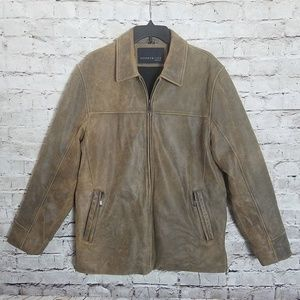 Kenneth Cole Mid-Length Coat Distressed Rustic